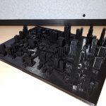 Maquette d'une ville fictive modélisée en 3D par le secteur AIMS de l'INLB