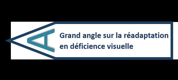 Logo Grand angle sur la réadaptation en déficience visuelle